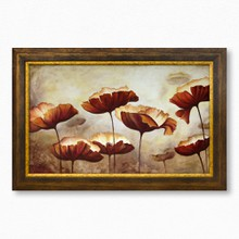 Painting poppies texture brown 367 39  65x40