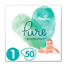 Pampers Pure Protection No 1 ( 2-5kg) 50Τμχ.