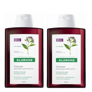 Klorane shampoo quinine 2x400ml offre enlarge