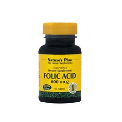 Nature's Plus Folic Acid 800 mcg 90 ταμπλέτες