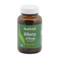 HEALTH AID BILBERRY 275MG 30TABL
