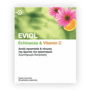 EVIOL Echinacea & Vitamin C 30caps