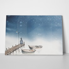 Silent night watercolor painting 237308071 a