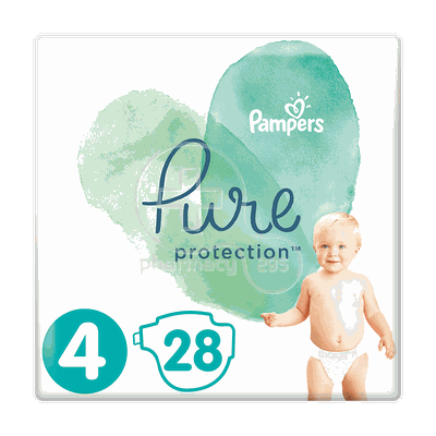 PAMPERS - PURE Protection No4 (9-14kg) - 28πάνες