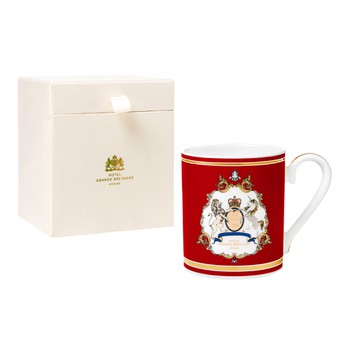 GB Emblem Red Mug with Gold Details