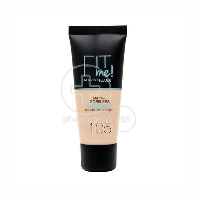 MAYBELLINE - FIT ME Matte & Poreless Foundation No105 (Ivory) - 30ml