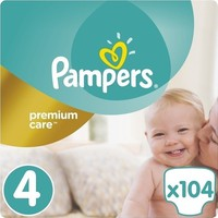 Pampers Premium Care No4 (8-14Kg) 104 Πάνες