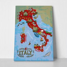 Illustrated map italy travel 444453400 a