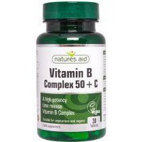 NATURES AID VITAMIN B COMPLEX 50 & C HIGH POTENCY 30TABS