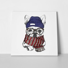 French bulldog cozy winter 519479815 a