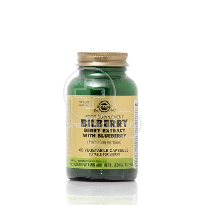 SOLGAR - BILBERRY BERRY EXTRACT WITH BLUEBERRY 60caps