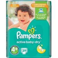 PAMPERS ACTIVE BABY-DRY No4+ (9-16 KG) VP (39TEM)
