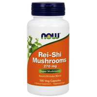 NOW REI-SHI MUSHROOMS (ΓΑΝΟΔΕΡΜΑ) 270 MG, 100 VEG. CAPS