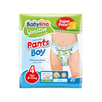 BABYLINO - SENSITIVE Pants Boy No4 (8-15Kg) - 20 πάνες