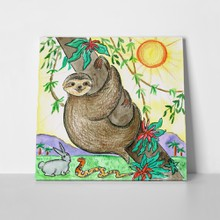 Sloth illustration cute 250957210 a