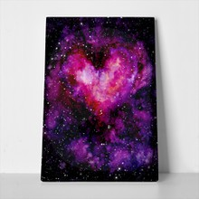Watercolor bright purple heart nebula shine 563598883 a