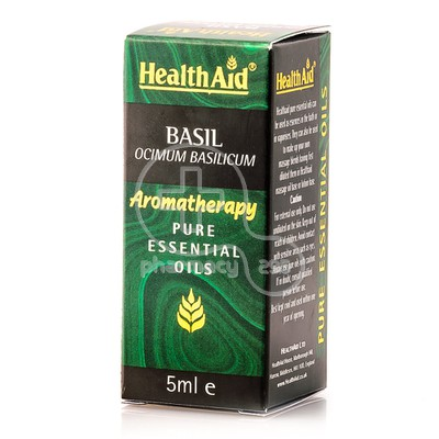HEALTH AID - AROMATHERAPY Pure Essential Oil Basil - 5ml