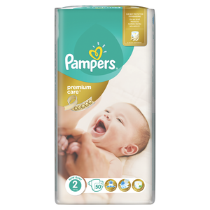 PAMPERS Premium care new baby N2 3-6kg 50τεμάχια