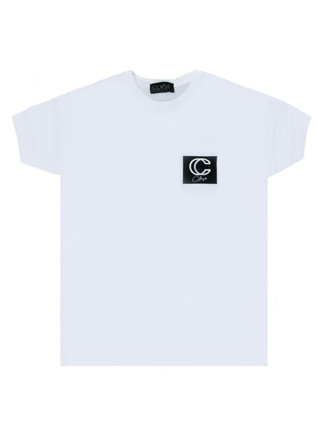 CLVSE SOCIETY WHITE T-SHIRT WITH 3D LOGO