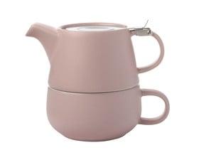 Maxwell   Williams Tea For One Κεραμικό Ροζ Tint Φλιτζάνι με Τσαγιέρα 450ml 4ae20f74e18