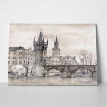 Prague bridge drawing 35972944 a