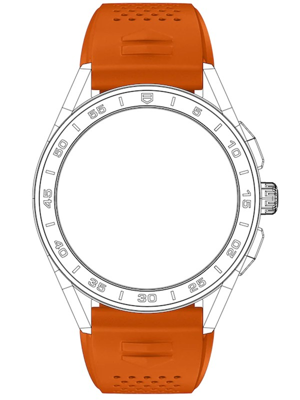 Connected Orange Rubber Strap