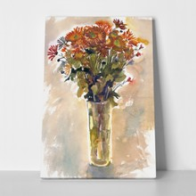 Orange chrysanthemums watercolor 40930483 a