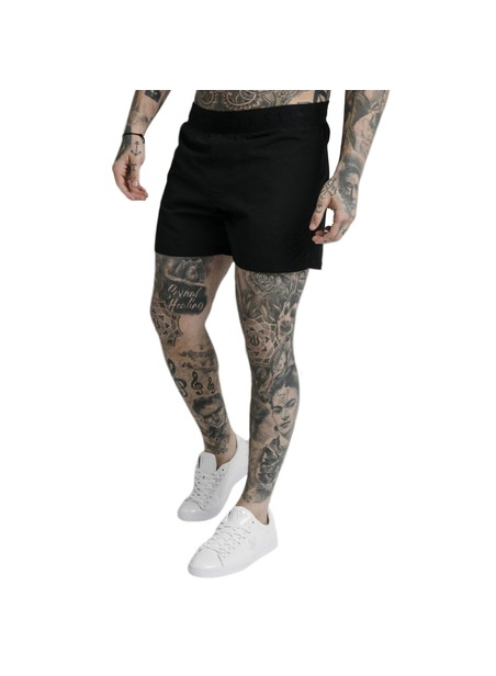 SikSilk Standard Swim Shorts – Black