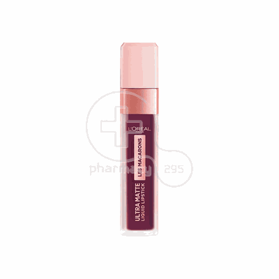 L'OREAL PARIS - LES MACARONS Ultra Matte Liquid Lipstick No830 (Blackcurrant Crush) - 7,6ml