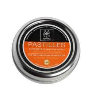 Apivita pastilles for sore throat and cough relief with propolis   licorice 45gr