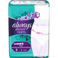 ALWAYS DISCREET LADY PANTS LARGE 8