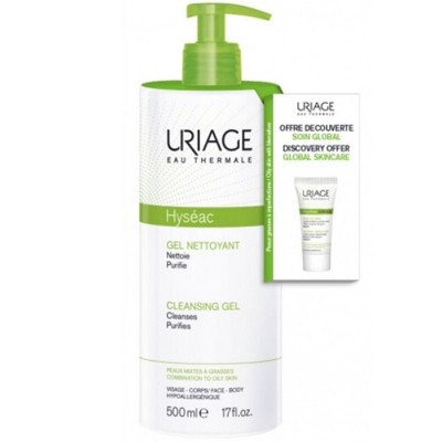 Uriage - Promo Hyséac Cleansing Gel 500ml & ΔΩΡΟ Hyséac 3-Regul Global Skin Care - 15ml