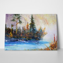 Landscape forest painting a