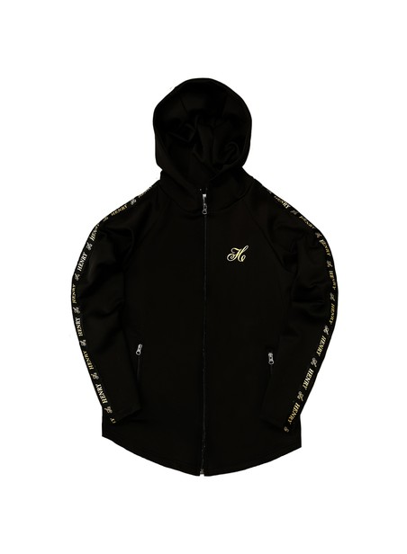 HENRY CLOTHING LOGO BLACK HOODIE JACKET