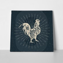 Rooster label vintage styled 366441560 a
