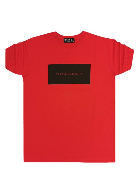 CLVSE SOCIETY RED T-SHIRT 317 SQUARE LOGO