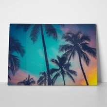 Sunset retro palm trees 185856206 a