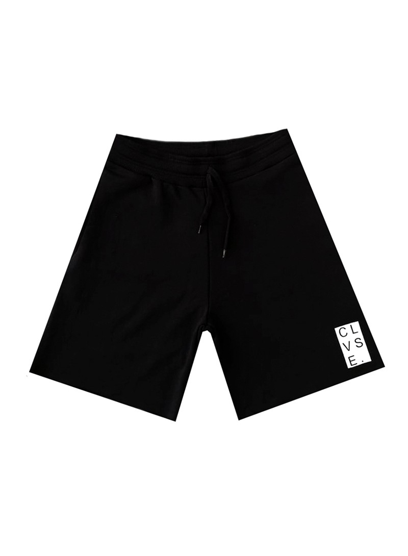 CLVSE SOCIETY BLACK LOGO SHORTS