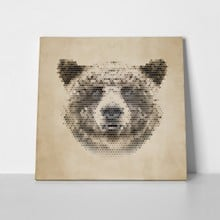Vintage geometric bear design 180893672 a