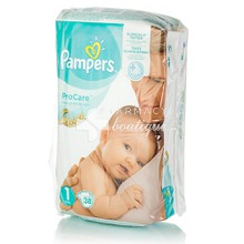 Pampers No.1 (2-5kg) - ProCare, 38τμχ.