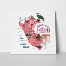 Llustrated map peru 675523993 a