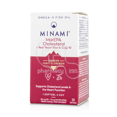 MINAMI - MorEPA Cholesterol Smart Fats 90% Supercritical Omega-3 Fish Oil - 30softgels