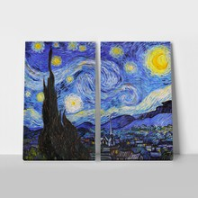 2panel vangogh thestarrynight