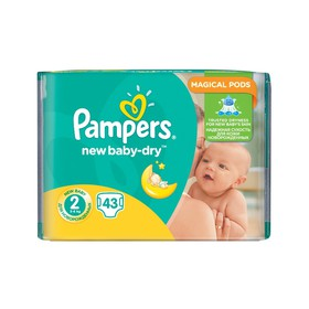 PAMPERS ACTIVE BABY DRY N2 MINI 3-6kg 43 ΤΕΜΑΧΙΑ