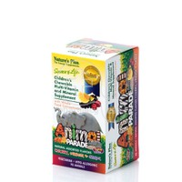 NATURE'S PLUS - SOURCE OF LIFE ANIMAL PARADE Multi Vitamin & Minerals (Cherry, Orange & Grape Flavor) - 90chew.tabs