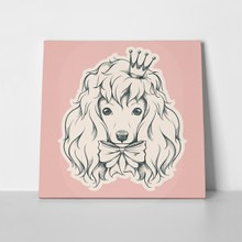 Poodle portrait crown bow 383649376 a