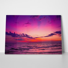 Beautiful purple sunset a