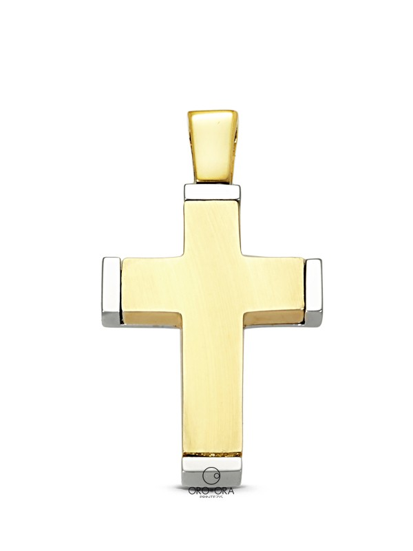 Cross Gold-White Gold K14