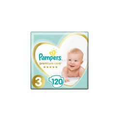 Pampers Premium Care Diapers Size 3 (6-10kg) 120 Diapers