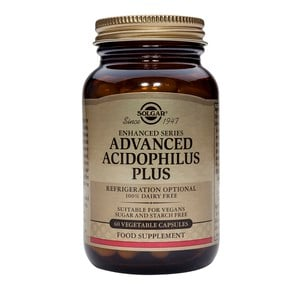 SOLGAR Advanced acidophilus plus 60vegetable capsules